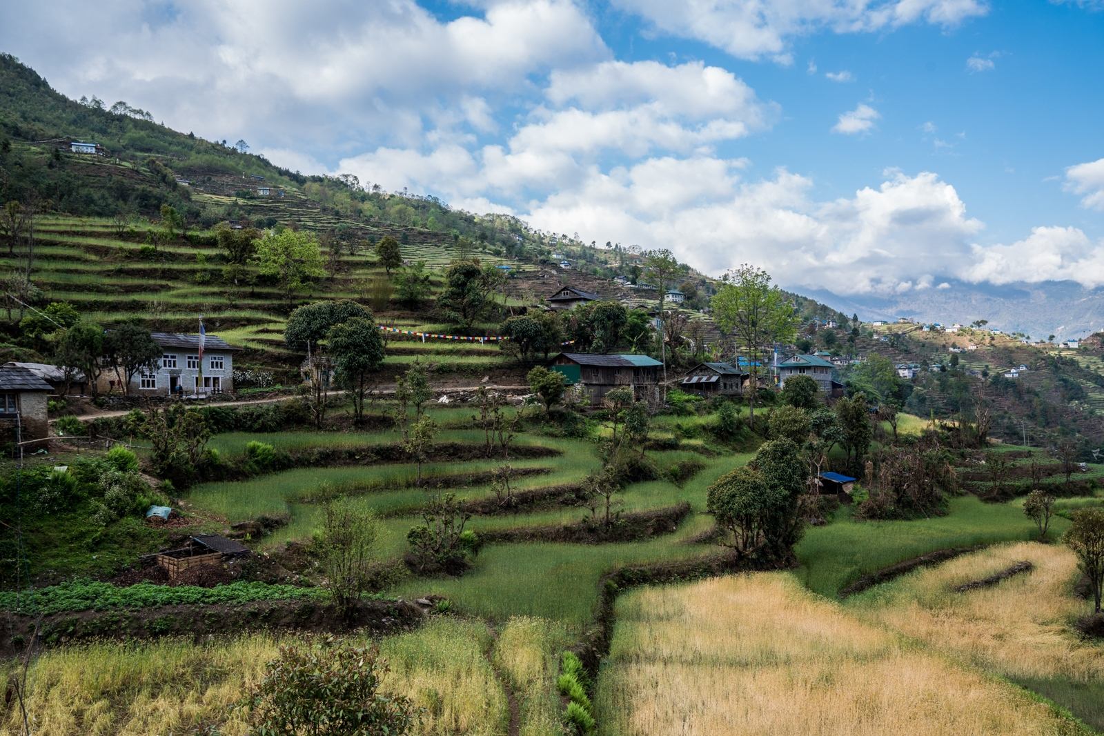 The village of Karikhola in the foothills of the Nepali Himalaya.