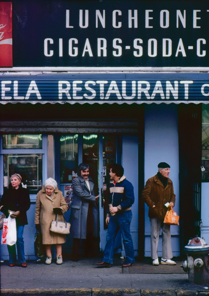 Shoppers at deli. on Bleeker Street