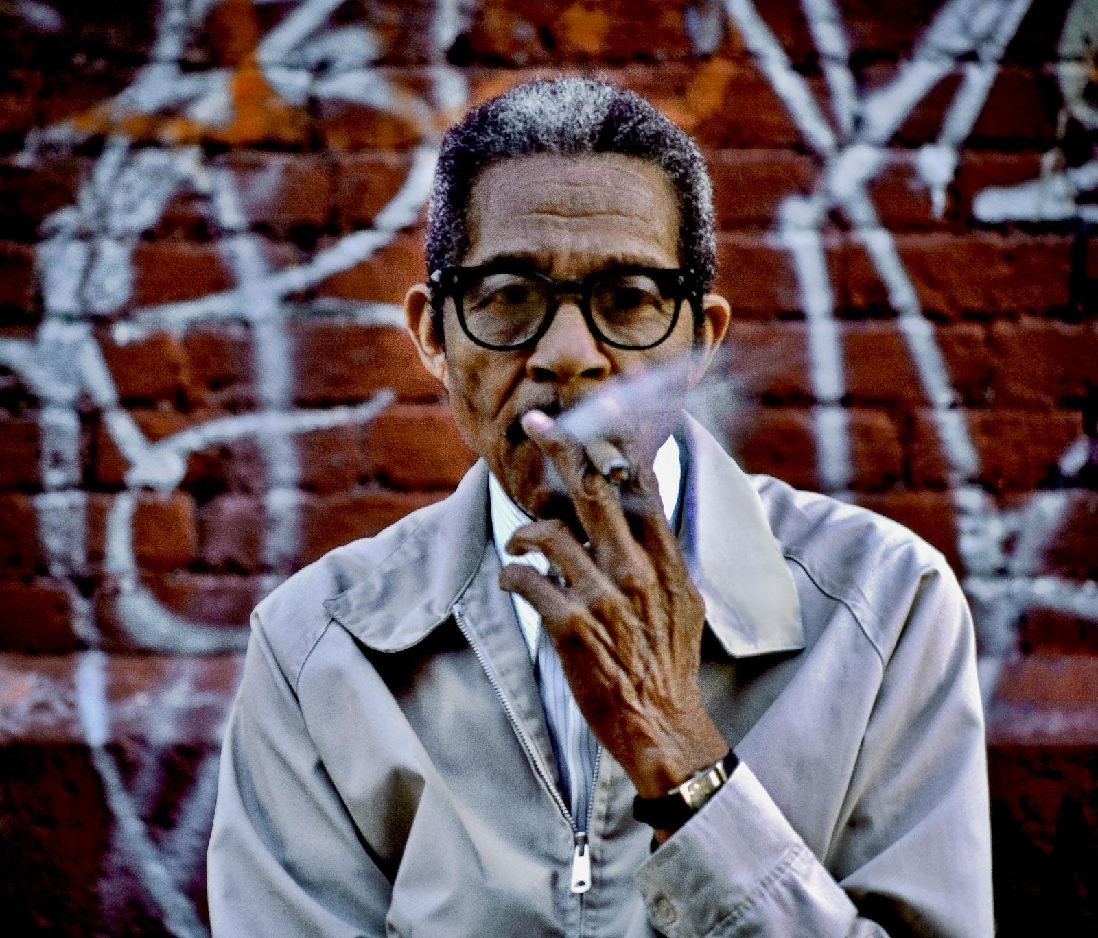 Man with cigar, W110th St.