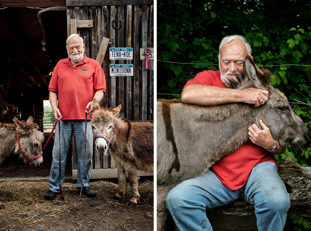 "Photography image - ""People say, ""Kiss my ass."" I do all the time."" - Ken Parker, Therapy Donkey Farmer"