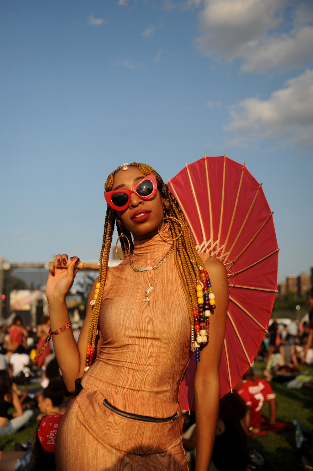 """The first time I was so amazed and overwhelmed by the environment and all the people. And so I had to come back for a second time. It's a really rich place to be. Afropunk means being unapologetic."" Erin Mitchell, 28, Birmingham, Ala."