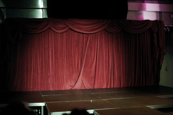 The curtain at a drag contest, New York, NY