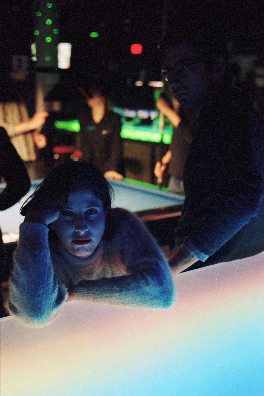 Talia at the pool hall, New York, NY