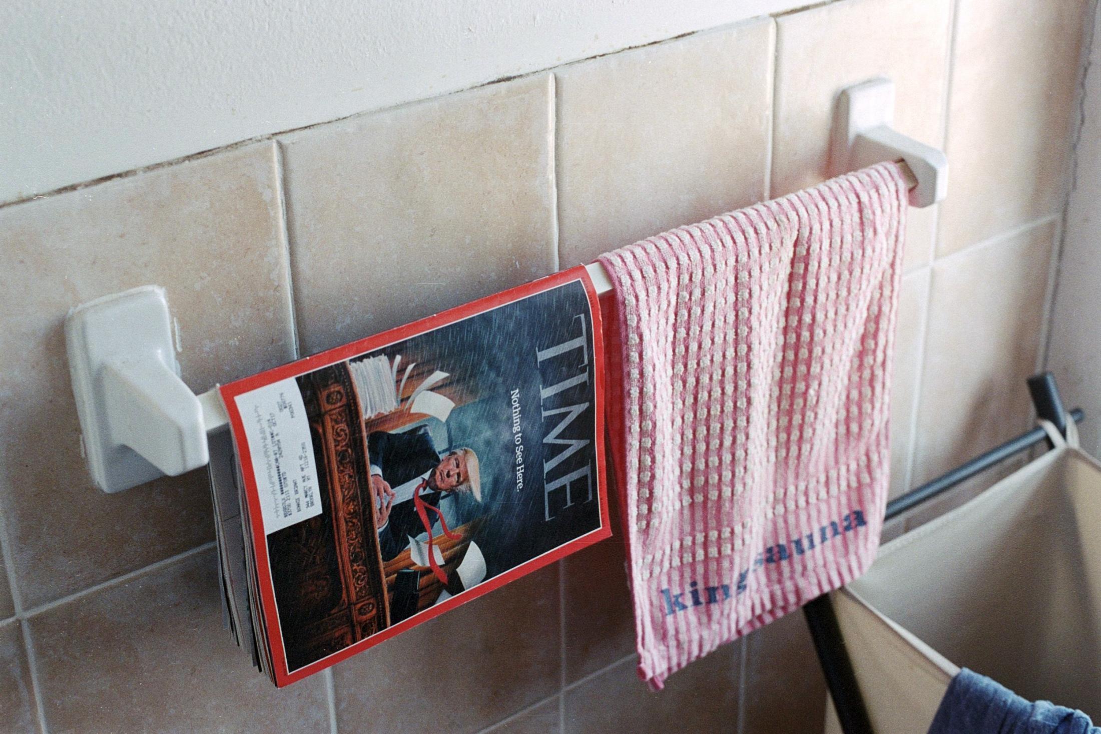 Time Magazine in my bathroom, New York, NY