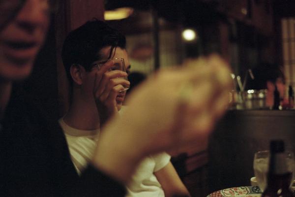 Malcolm at dinner, Hilburn, NY