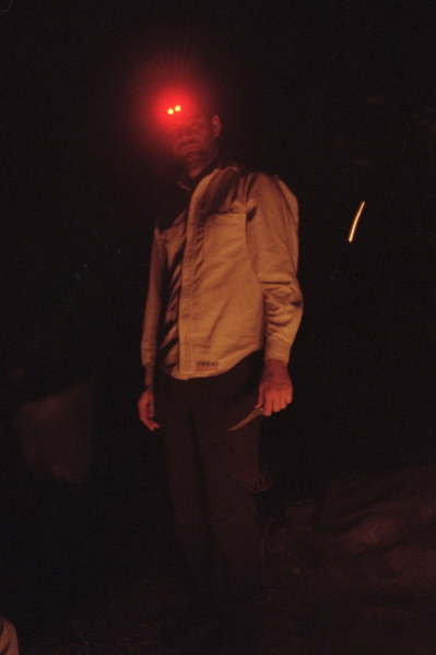 Blaine at a campsite, Hermit Island, ME