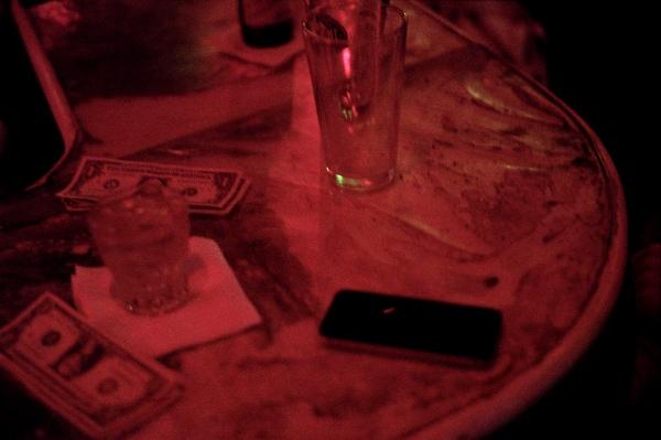 Drinks on a bar, New York, NY