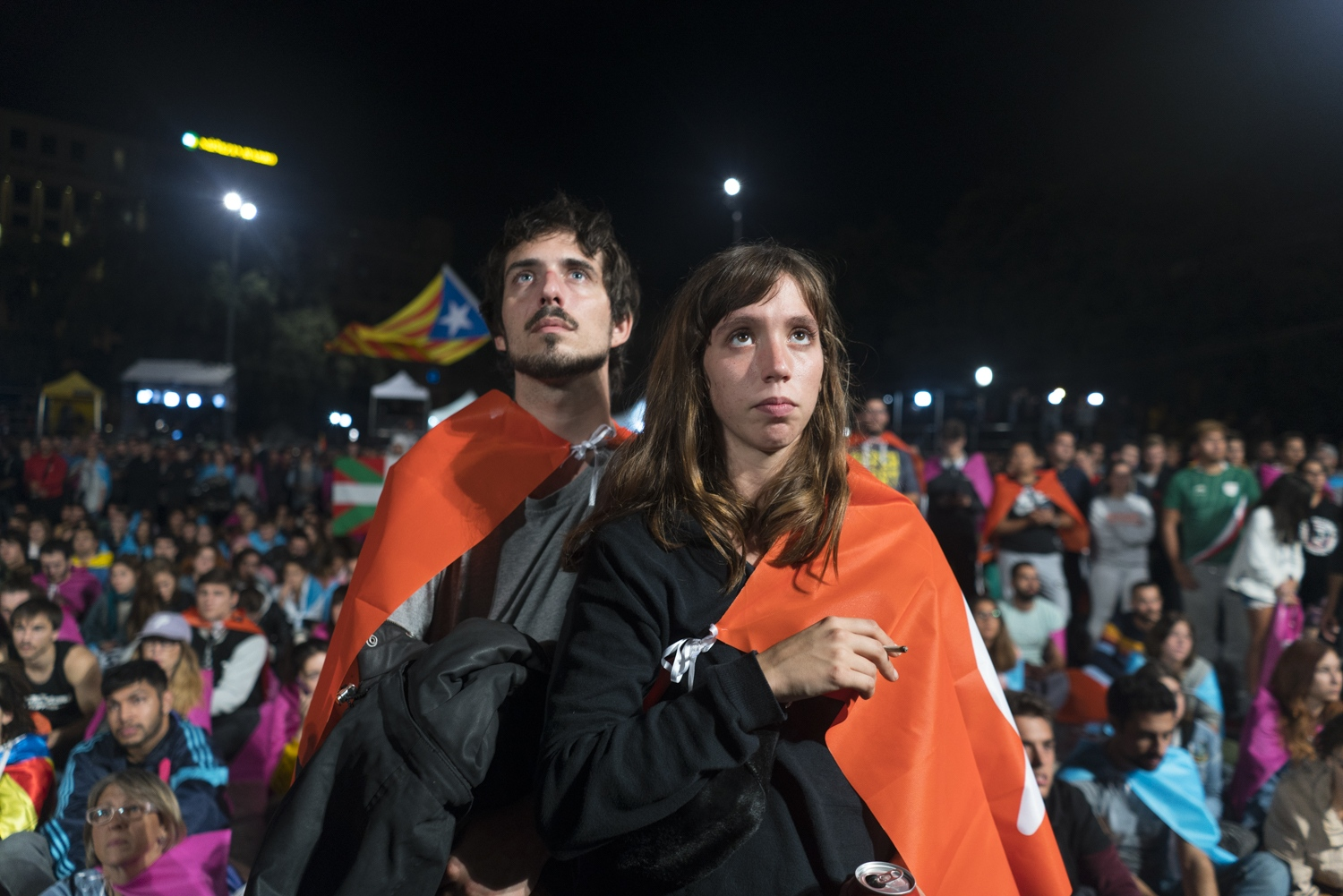 The night of the Catalan independence referendum, Oct. 1, 2017.