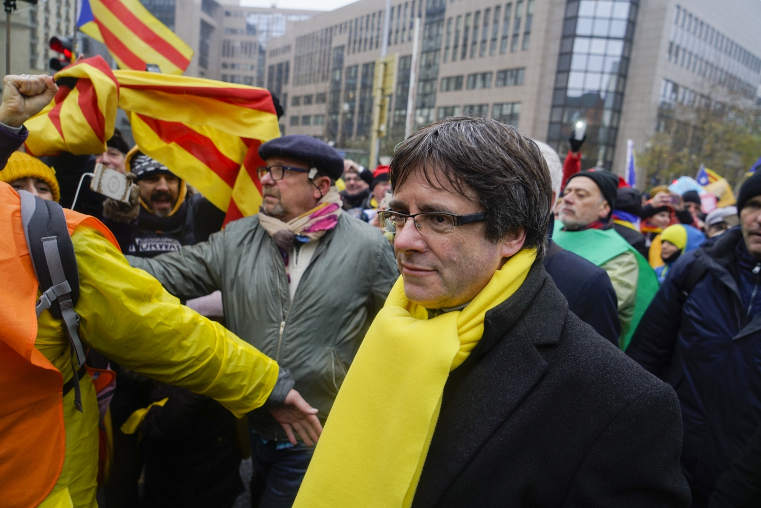 Exiled Catalan President Puigdemont in Brussels, November 2017.