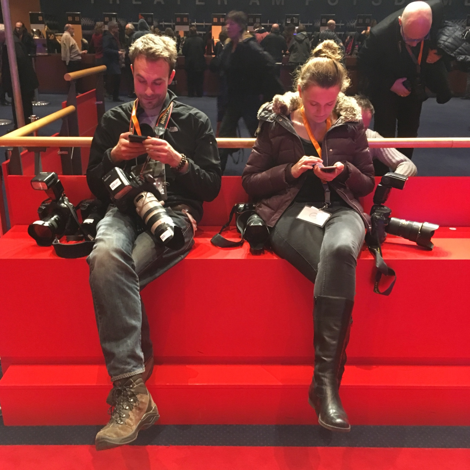 berlinale - smartphone and photogear