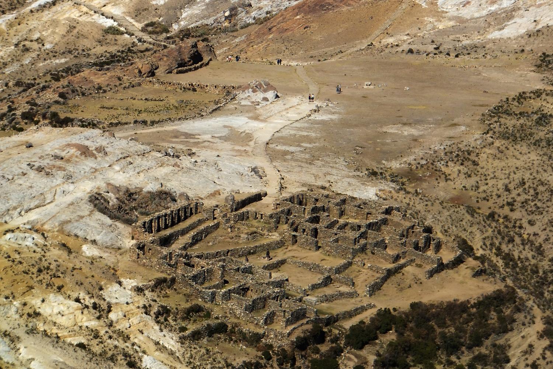 Estas son las ruinas Chinkana, allá iba de chiquita a pastear ovejas.