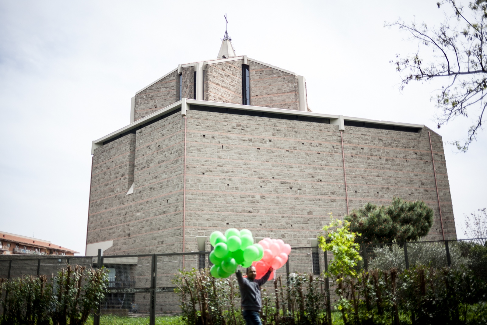 Apr. 14, 2018 -A man brings balloons for the celebration of the Bangla New Year in a public park in southeastern Rome.  Hindus and muslims from Bangladesh gather every year in different areas of Rome to celebrate the event.