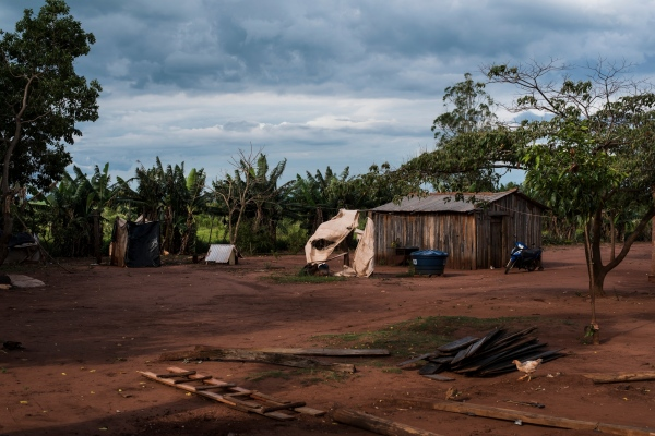 November 29, 2016.  A yard in the Guarani-Kaiowa Amambai Indigenous Reserve in Matto Grosso Du Sul, Brazil. The reserve has one of the highest suicide rates in the world.