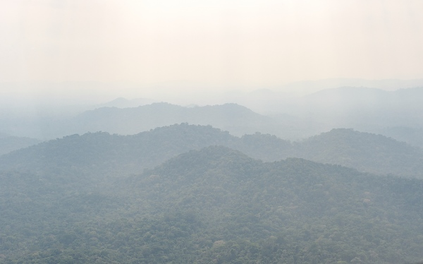 Smoke from a year of record fires covers protected Amazon Rainforest near Itaituba in Para, state, Brazil.