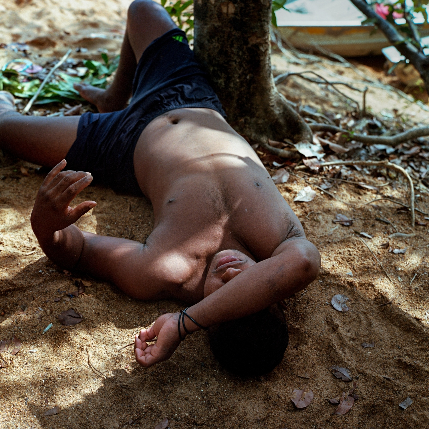 2016. Joseil Jacinto Pierra Juruna, from the Juruna village of Miratu, rests during a Sunday picnic on the banks of the Volta Grange of the Xingu River.  /Aaron Vincent Elkaim