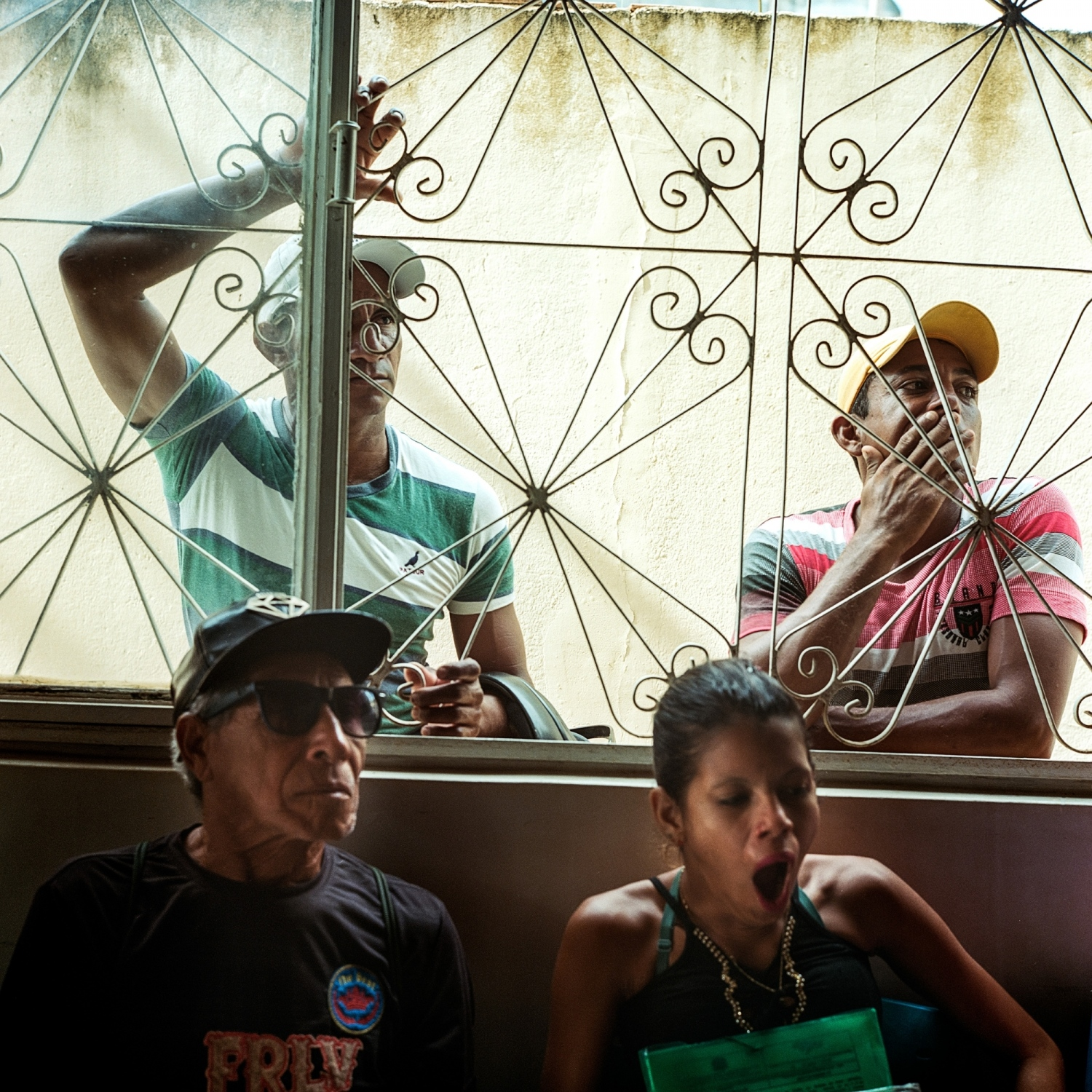 December 13, 2016. Fisherman and Riberinos (river people) gather for a meeting at the Fishermans Co-op in the city of Altamira, Para, Brazil to discuss plans of creating a Riberino Council to negotiate relocations back to the reservoir on the Xingu River for those displaced by the Belo Monte Dam.   /Aaron Vincent Elkaim