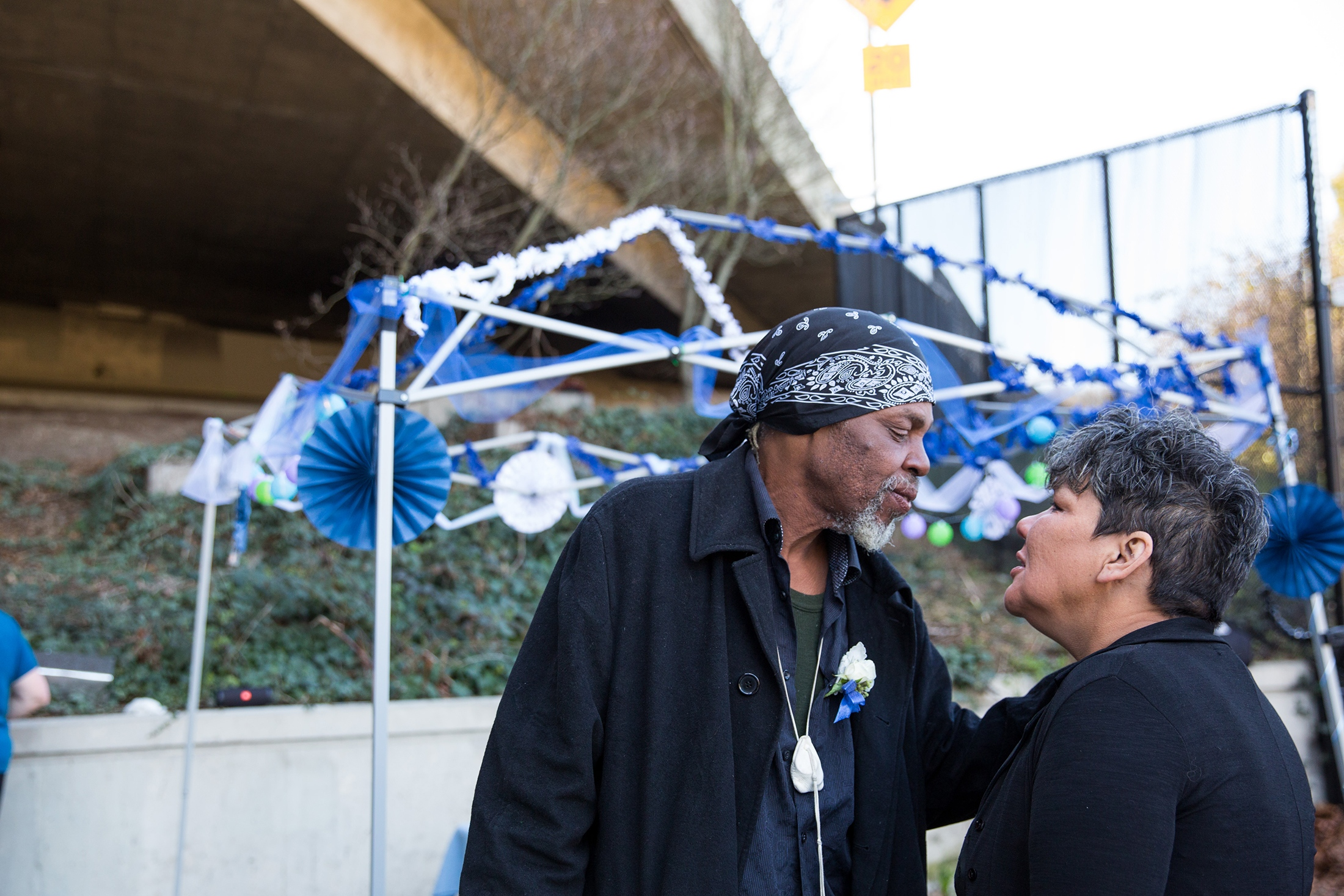 Bob J. Kitcheon and Michelle Vestal, Seattle, WA 'Homeless in Seattle and Marrying Under the Overpass' for the New York Times