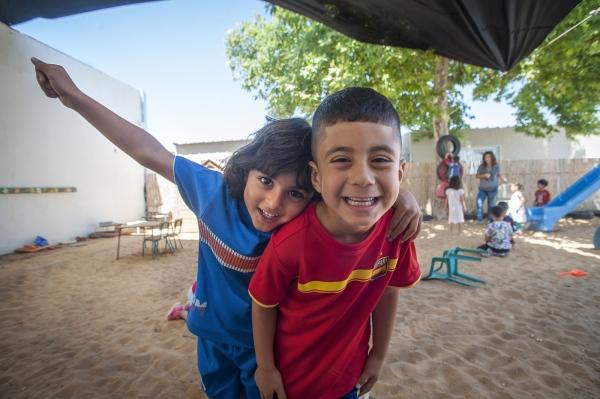 Kindergarden students at Bridge Over the Valley, Wadi Ara,Kafr Qara, Israel.