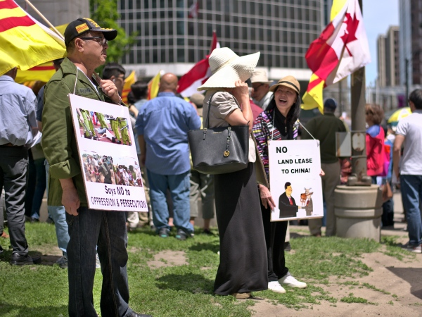 Vietnam Protesters At Old City Hall, Toronot Over Economic Zones Law 10JUNE2018 - Photography project by Kenneth Sookhai