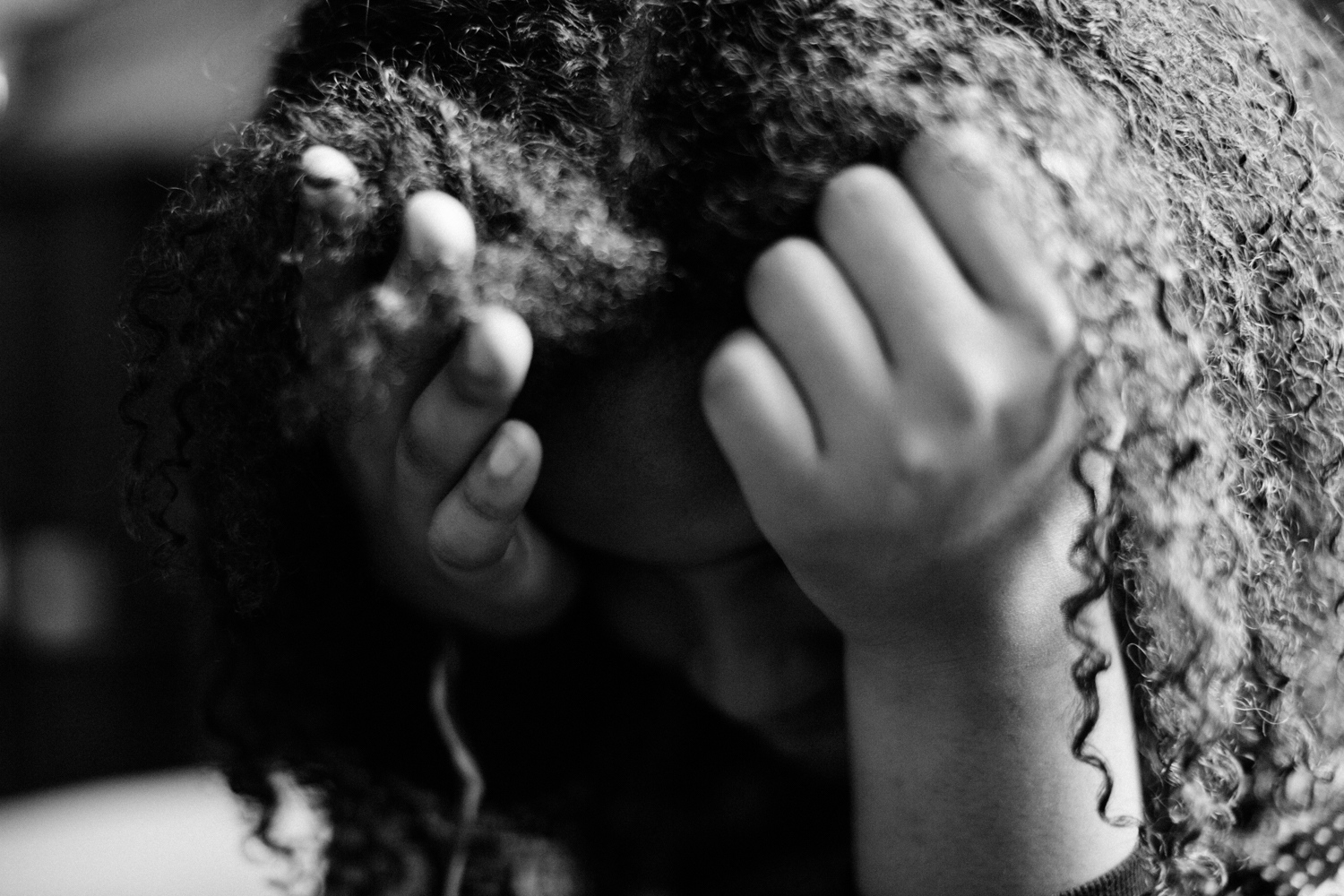 """Dasani rests her head August 3, 2016 at Duke University's Summer Program. """"Now I could see what's at stake,"""" says Dasani. """"It's much more at stake for me because I'm black. I live in a ghetto neighborhood, and I have a low-income family, so they just expect less from me."""""""