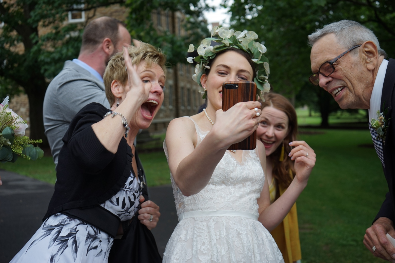 Photography image -  Instant replay on iphone, of Alex & Carl's wedding in the chapel at Hamilton College 23 JUne 2018 ©Sylvia de Swaan