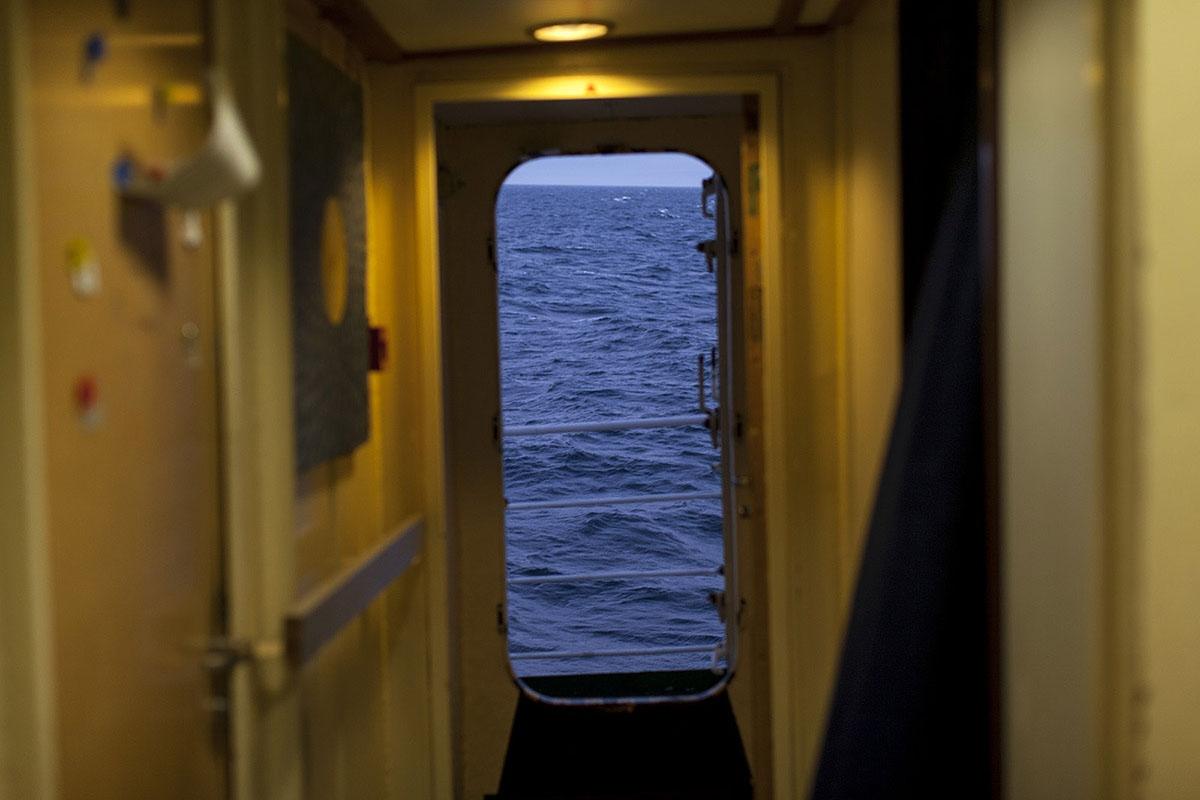On board of the Greenpeace Esperanza Ship. Pacific Ocean, 2015