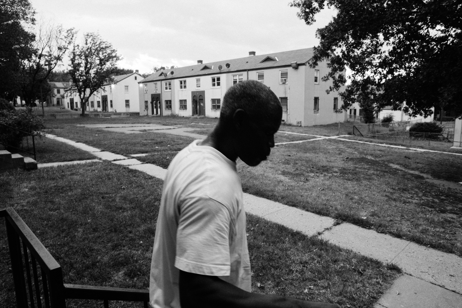 """Charles """"Chit"""" lived in Barry Farm when he was 9 years old, at a time when D.C. was considered the murder capital of the world. After 23 years of incarceration for homicide, he returned to Barry Farm as a homeless man. He stays at a nearby shelter, but he visits Barry Farm everyday. He says it will always be his home. September 10, 2016."""