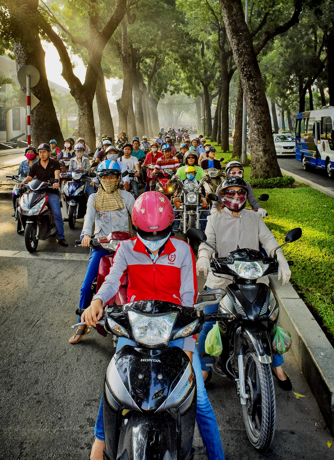 Saigon commuters