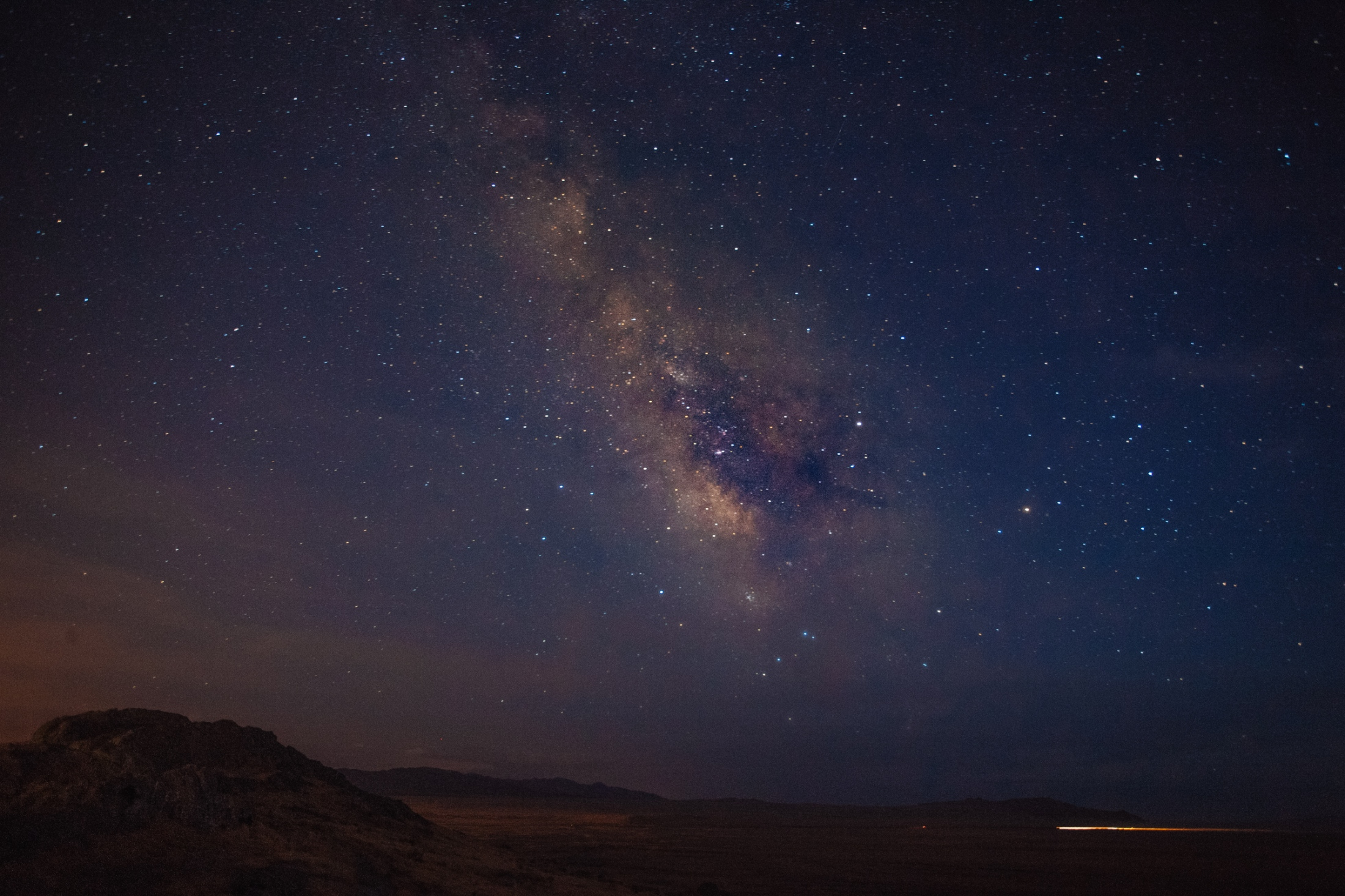 View of the Milky Way Galaxy, Interstate 80, UT.