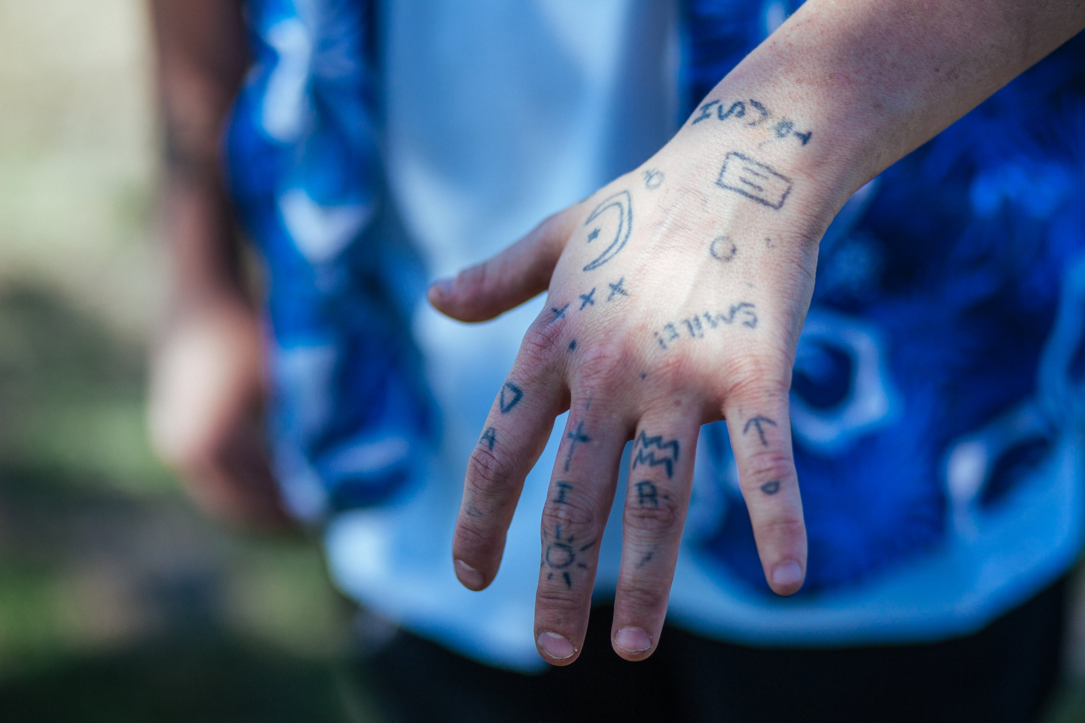 Forest displays tattoos that represent her sexuality, zodiac sign, religious beliefs, and others, Payette, ID.