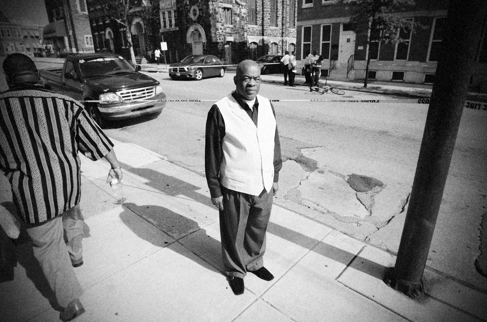 Reverend Milton Williams of the New Life Evagelical Church lost a daughter to gun violence in Baltimore. He was nearby for the shooting at Preston and Milton avenues. July 22, 2013.