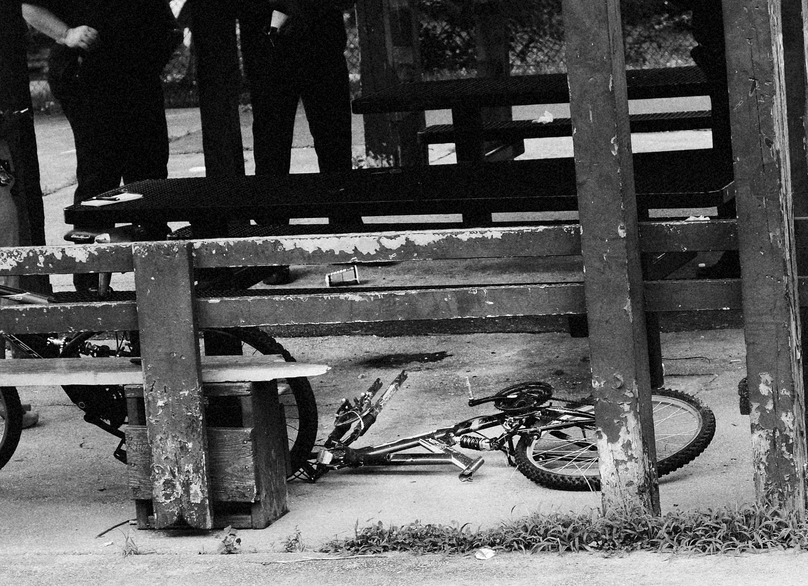 The bicycle of an eight-year-old shot by another child at a playground on Willow and Alhambra avenues in Northeast Baltimore on July 1, 2013.