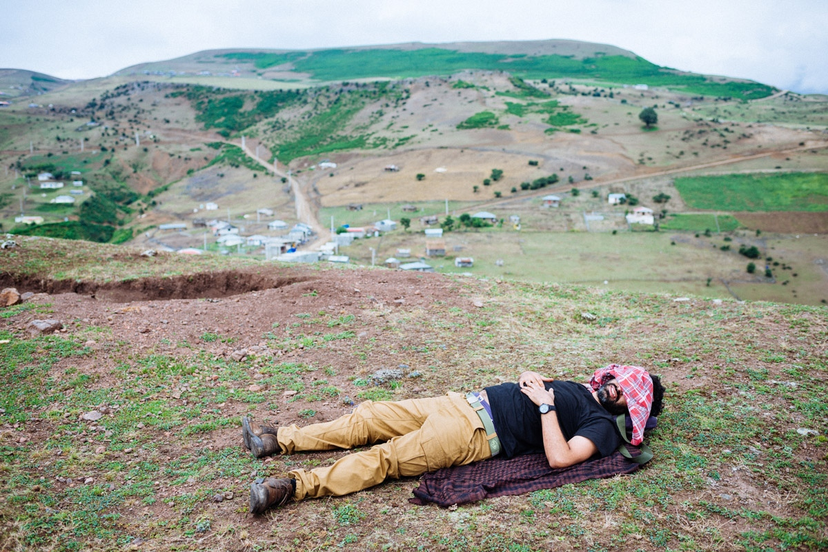 Alireza, my best friend from college, got accepted by NYU with a full fellowship. But because of the POTUS executive order and subsequent travel ban, his visa request was rejected at the embassy. After he got back from Turkey, we went camping to change the mood. Iran, 2016.
