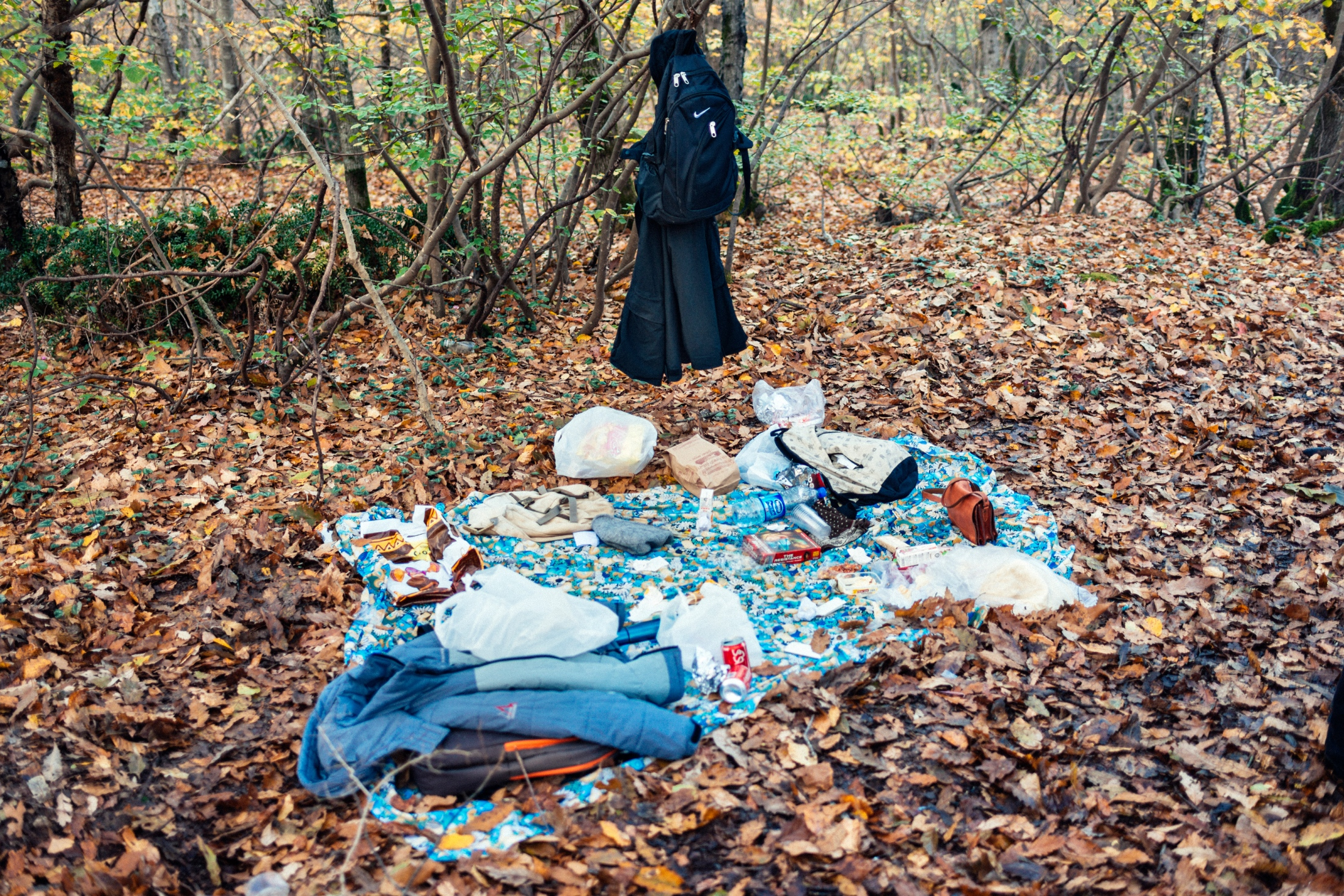 According to Islamic law, any relationship between an unmarried couple is forbidden and therefore punishable by law. Every time we went camping as a group, all the couples would find a safe hideout in order to avoid brushes with the law. This empty picnic reminds me of restriction, fear of persecution, and the lack of public safety. Iran, 2015.