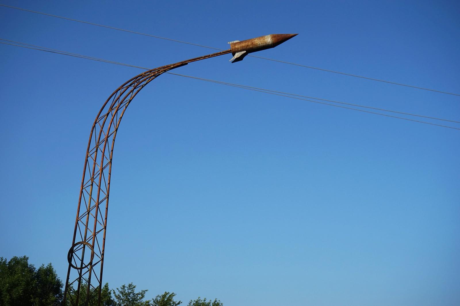 <p>Missile, Missile, Soviet era monuments...