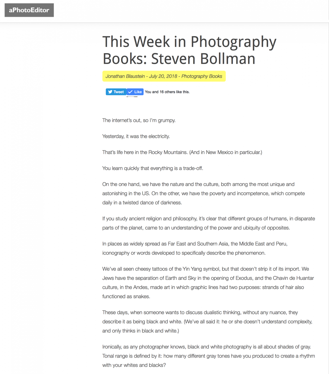A Photo Editor - link to article
