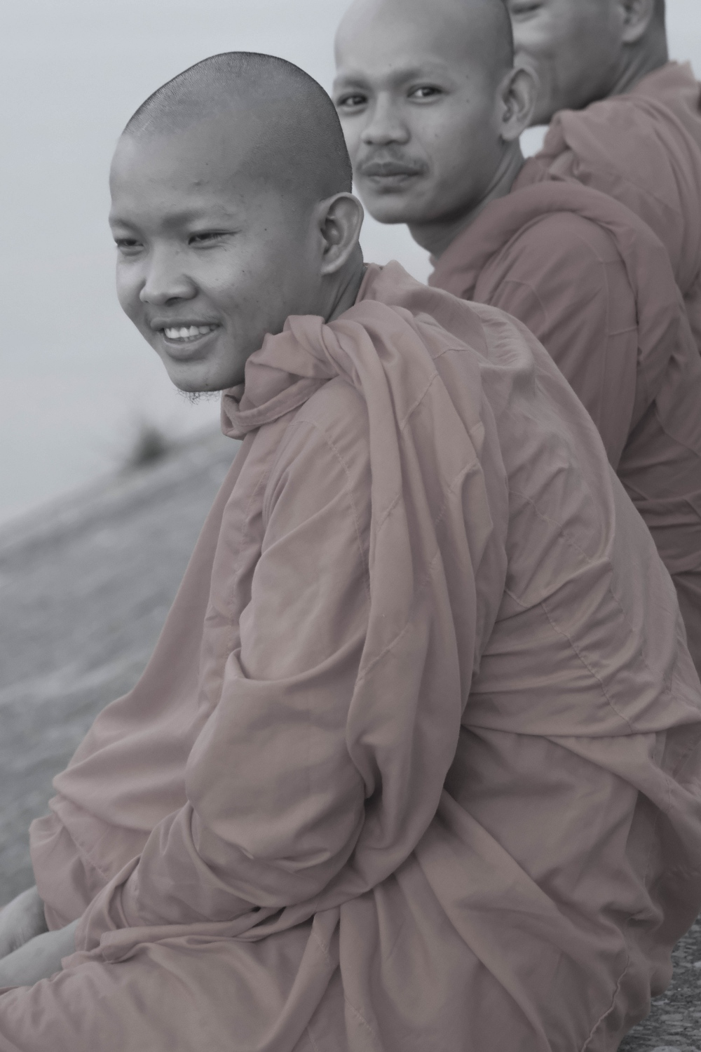 Photography image -  Novices on the Riverfront, Phnom Penh