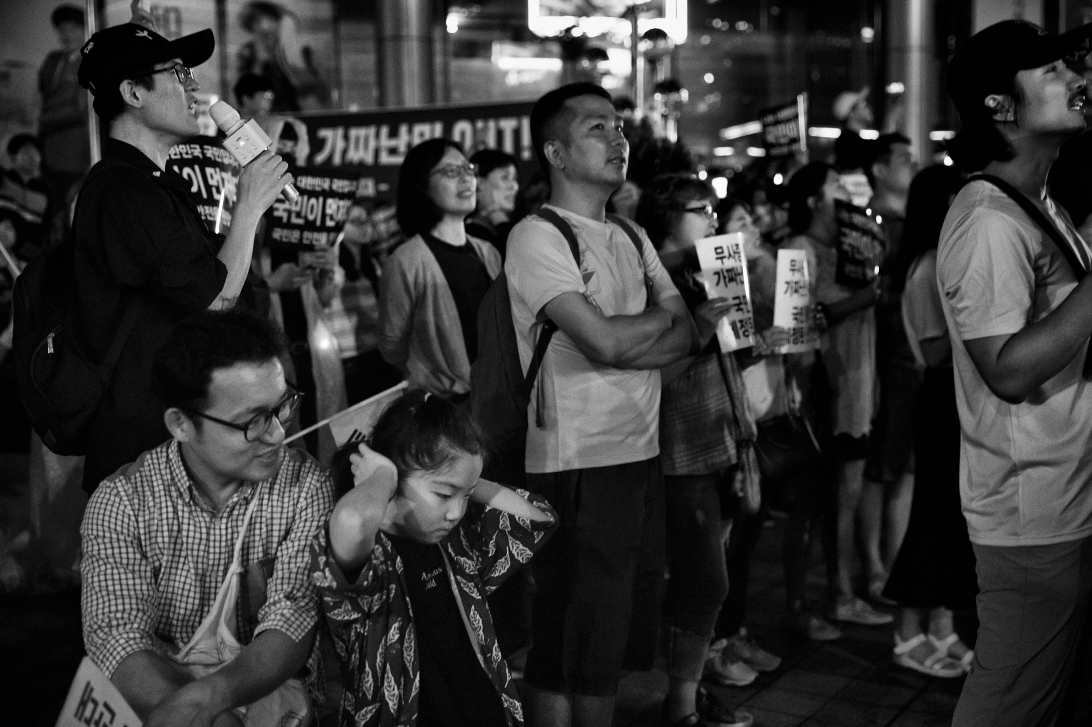 "More than one hundred people gathered for ""Anti Refugee Protest"" near Gwanghwamun, the center of Seoul, South Korea on June 30, 2018. The protesters demanded the South Korean government to expel Yemeni refugees from the country claiming that those Yemenis are fake refugees seeking for jobs, contaminating Korean culture and are terrorists like ISIS. As of the end of July 2018, more than 700,000 people have demanded to expel Yemeni refugees from South Korea on the requests forum in the Korean Presidential office website."
