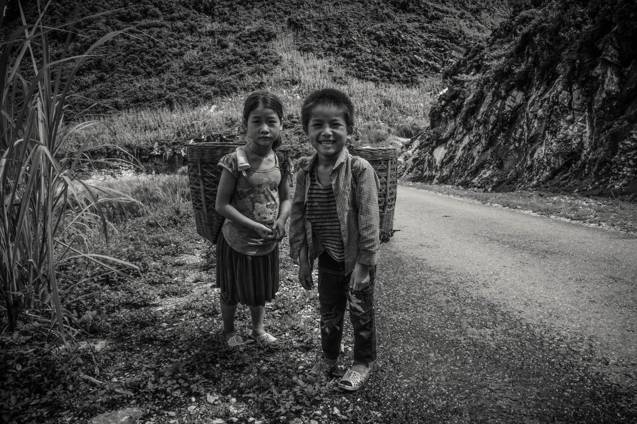 Photography image -  Hmong Children, Lung Ho, Vietnam