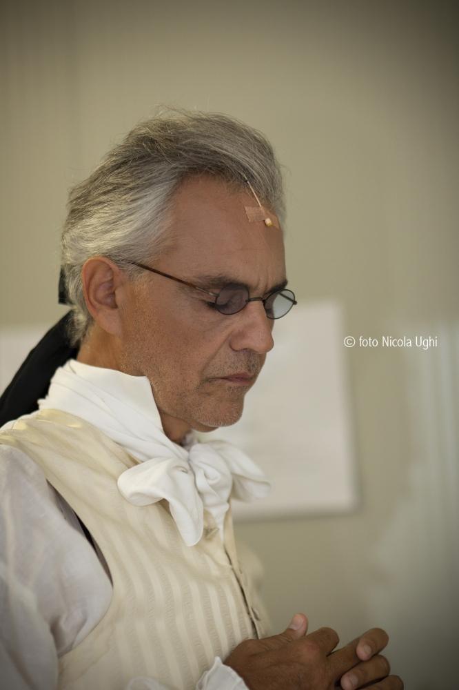 The tenor Andrea Bocelli is Andrea Chenier in the show