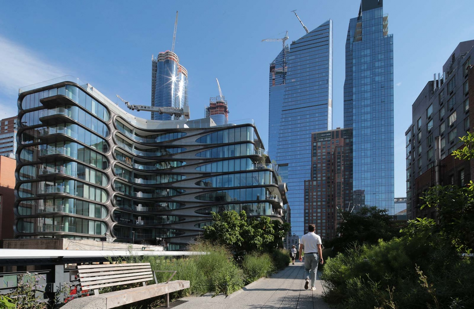The Zaha Hadid Building, The Highline Park and Hudson Yards.