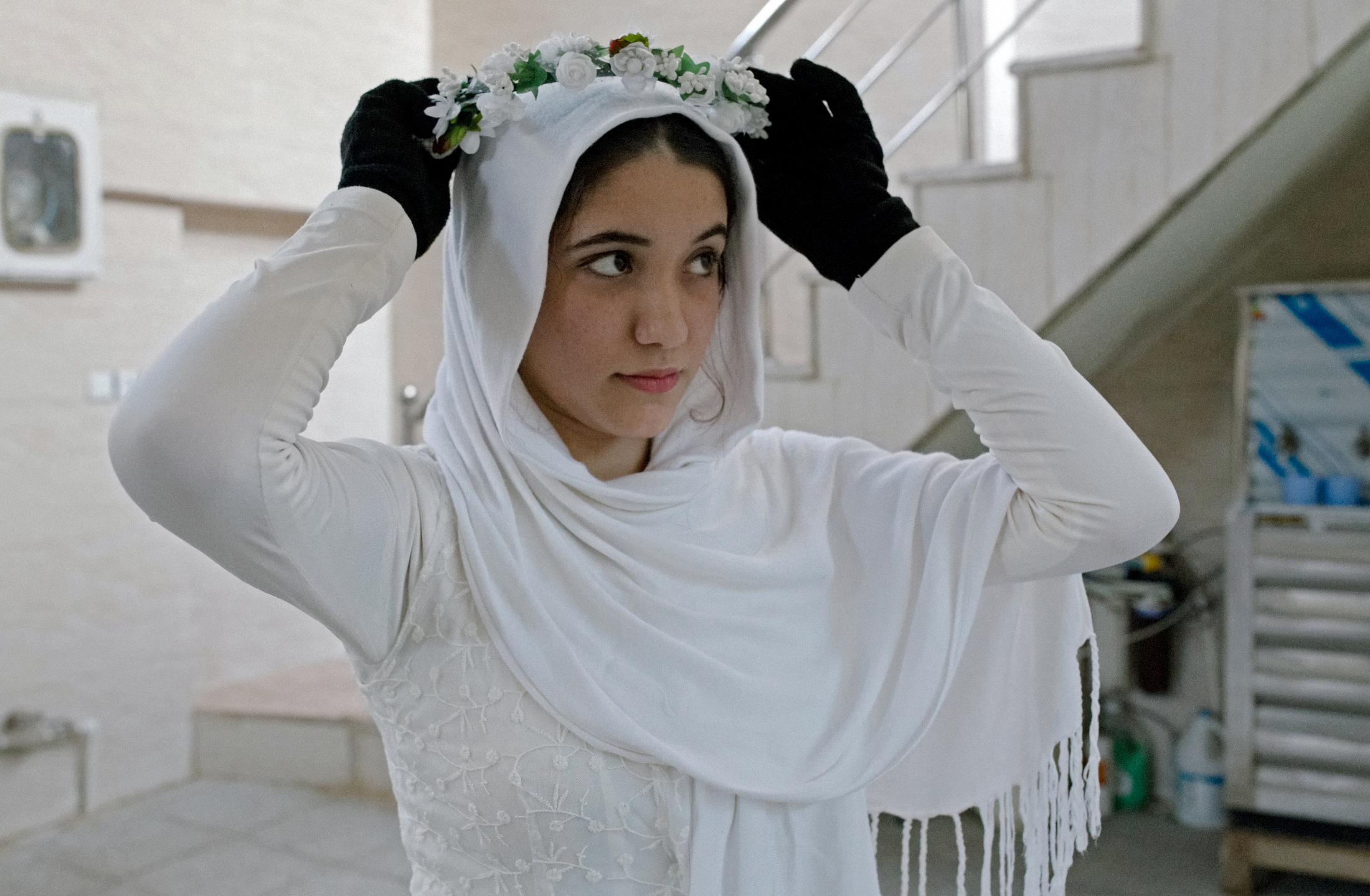 The Mandaean women wear gloves throughout their menstrual cycle; water figures prominently in their rites. Still, the stigma inhibits their lives in Iran in a very visceral way. Ahvaz, Iran.2016