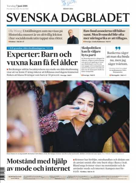 Resistance with fashion, Svenska Dagbladet, 2018.