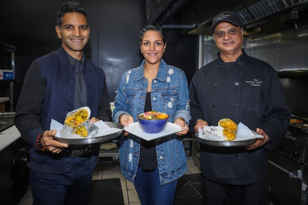 Brother and sister Hiram Mac and Priyanka Mac with  Chef Kamal Singh.