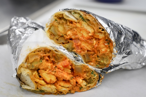 "Indian Burrito dubbed ""The Frankie"" is the best seller."