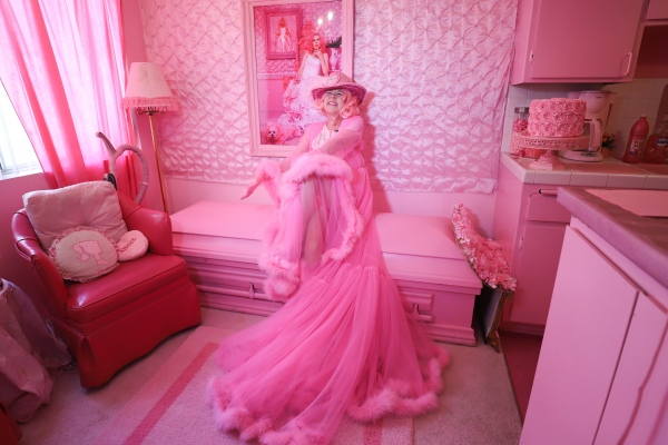 Kitten Kay Sera says when she dies, people must wear pink to her funeral. Here she sits on her pink coffin.