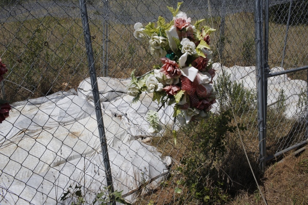 Unidentified undocumented migrants bodies at Texas State department of forensics anthropology decomposition center. (Kevin C Downs/Agence Cosmos)