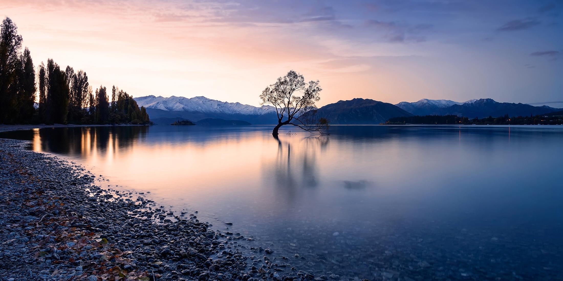 Atardecer en el Lago Wanaka. (New Zealand)