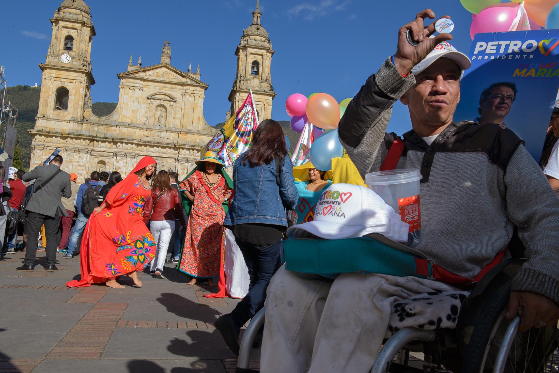 (EN) May 17, 2018 - Bogota, Colombia. Closing rally of the Colombian presidential candidate Gustavo Petro. (ES) 17 de mayo, 2018 - Bogotá, Colombia. Cierre de campaña del candidato a la presidencia Gustavo Petro.