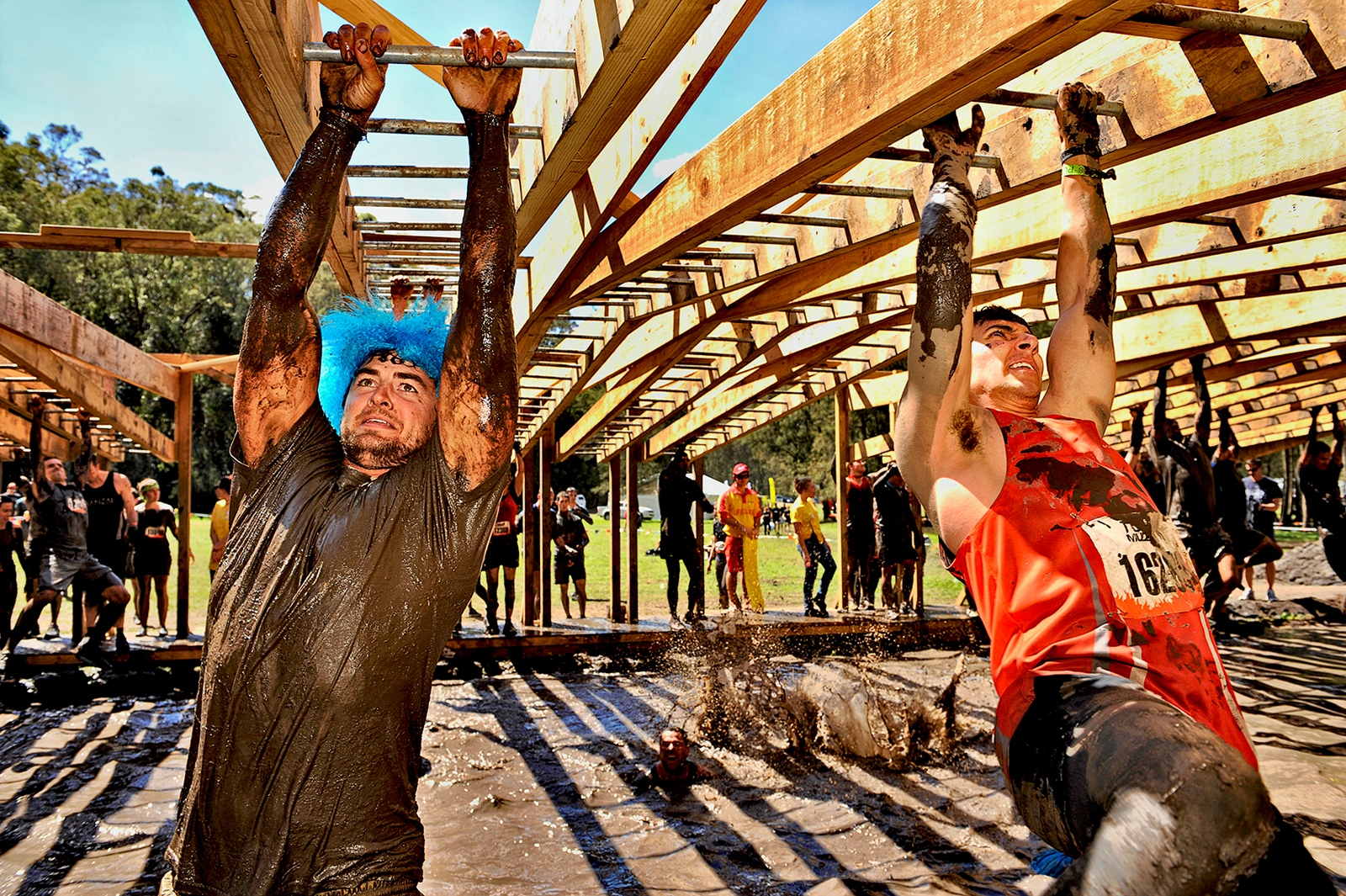 Tough Mud monkey bars